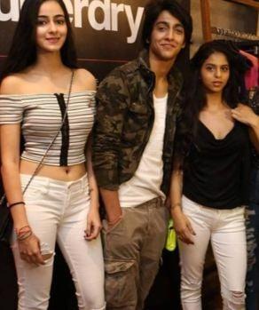 Ahaan Panday with Ananya Panday and Suhana Khan