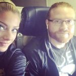 Alexa Bliss with fiance and fellow wrestler Buddy Murphy