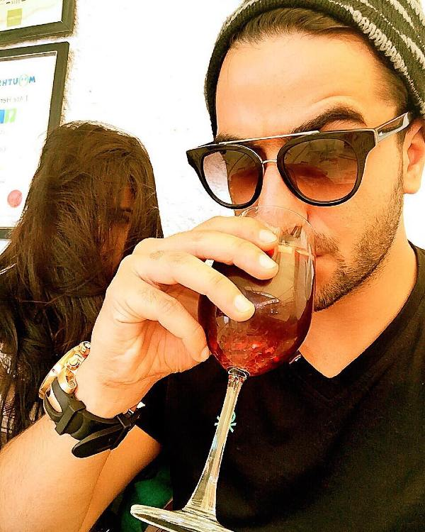 Aly Goni Drinking Alcohol