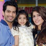 Amit Tandon with his wife Ruby Tandon and daughter Jiyana Tandon