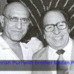 Amrish Puri With His Brother Madan Puri