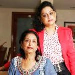 Anuj Saxena mother with his sister