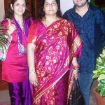 Anuradha Paudwal With Her Son And Daughter