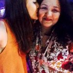 Ariah Agarwal with her mother