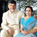 Chandrababu Naidu With His Wife