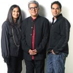 Deepak Chopra with his son & daughter