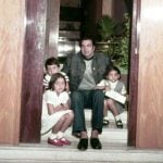 Parkash's husband Dharmendra With His Daughters Vijeeta, Ajeeta and Son Bobby