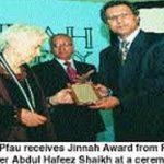 Dr Ruth Pfau With Jinnah Award