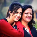 Esha with her mother
