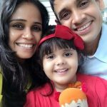 Garima Srivastav with her husband Yogesh Vikrant Singh and daughter Vera