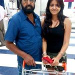 Ginnie Virdi with her father