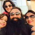 Honeypreet Insan with her father and sisters