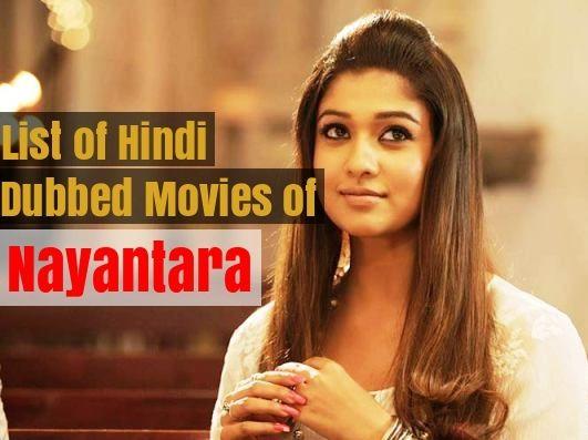 Hindi Dubbed Movies of Nayantara