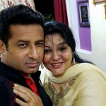 Iqbal Azad with wife Farah