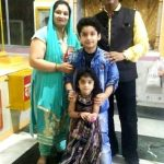 Ishant Bhanushali with his family
