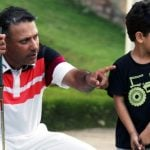 Jeev Milkha Singh With His Son Harjai