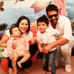 Kanchi Kaul with her husband & sons
