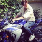 Karan Suchak riding his bike