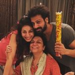 Karan Veer Mehra with Mother and Sister