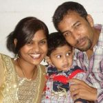 Kathi Karthika with husband and son