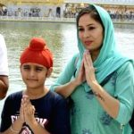 Khushmeet Gill with his mother