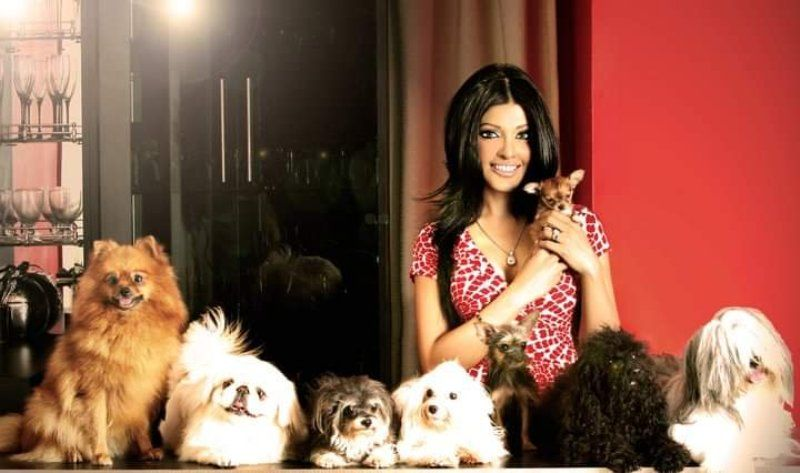 Koena Mitra with animals