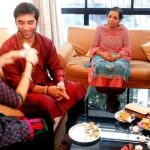 Kushal Punjabi with his family