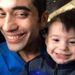 Kushal Punjabi with his son Kian