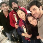Maninder Singh with his family