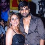 Manish Goel with his wife Poonam Narula