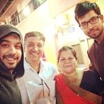 Manish Goplani with his parents and brother