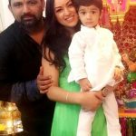 Maryam Zakaria with her husband Arvind Thakur and son Aryan Thakur