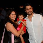 Marzi Pestonji with his wife and daughter