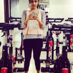 Megha Chakraborty capturing herself in Gym