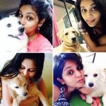 Megha Chakraborty with her dogs