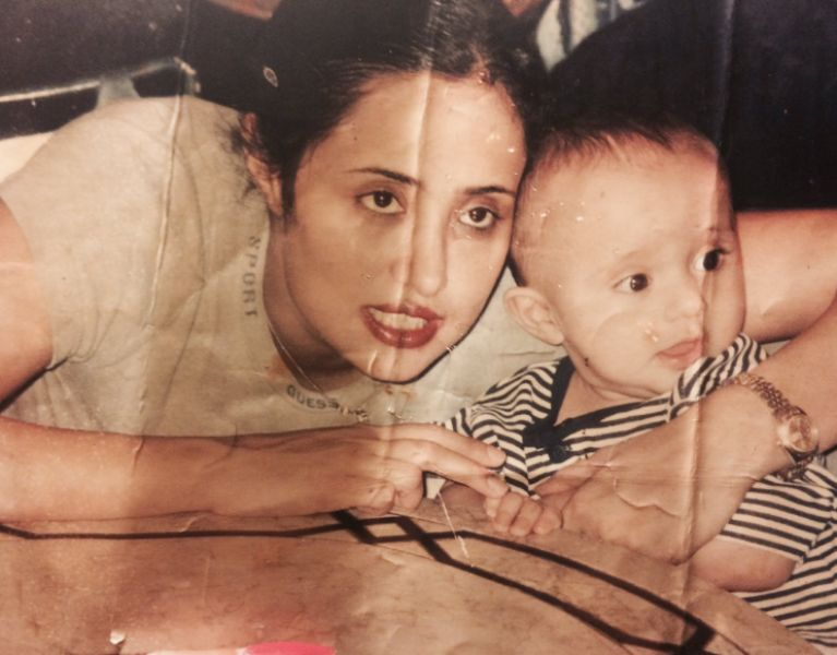 Mehr Tarar With Her Son Musa