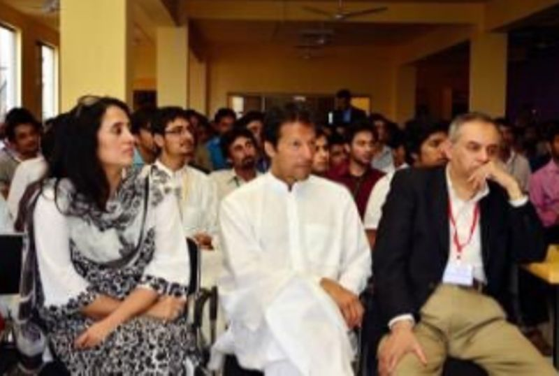 Mehr Tarar with Imran Khan