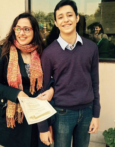 Mehr Tarar with her son