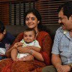 Methil Devika with Husband and Children