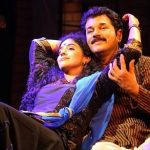 Methil Devika with husband in Naaga
