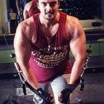 Micckie Dudaaney while gymming