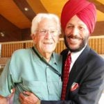 Milkha Singh With His American Coach Dr. Arthur W Howard