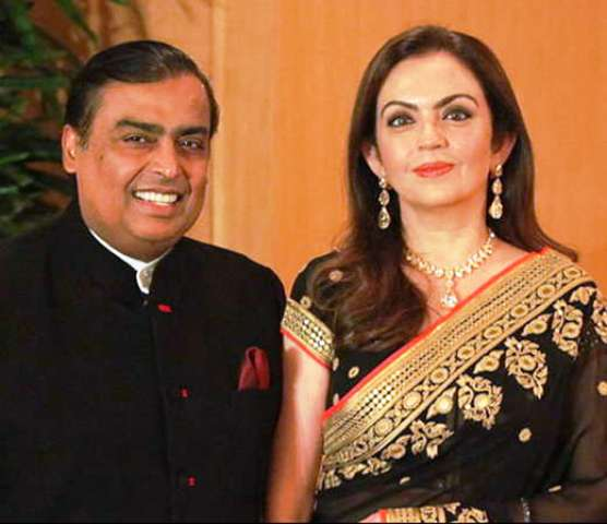 Mukesh Ambani and Nita Ambani