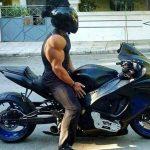 Naman Shaw riding his bike
