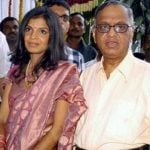Narayana Murthy With His Daughter