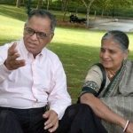 Narayana Murthy With His Wife