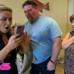 Natalya with her parents