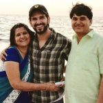 Rahul Sharma with his parents