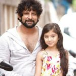 Raj Arjun with his daughter Sara