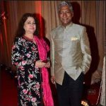 Rajendra Gupta with wife
